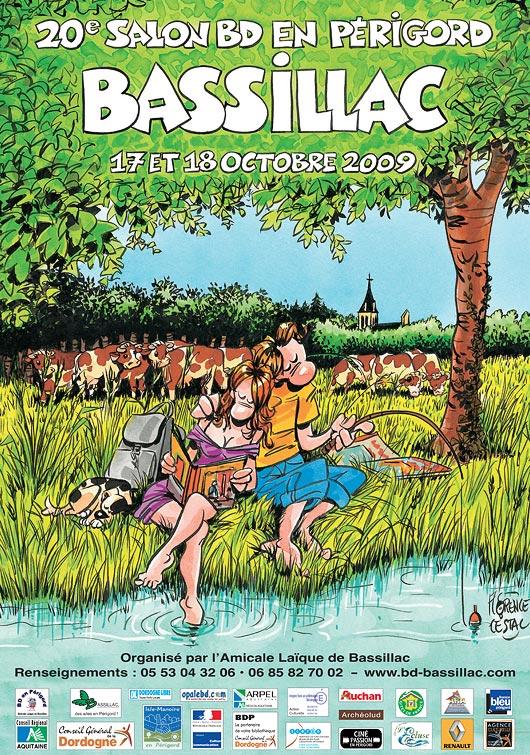 Affiche 20ème salon BD Bassillac 2009